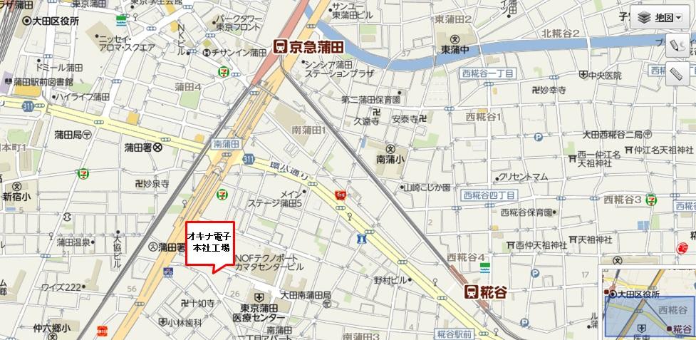 本社工場 地図