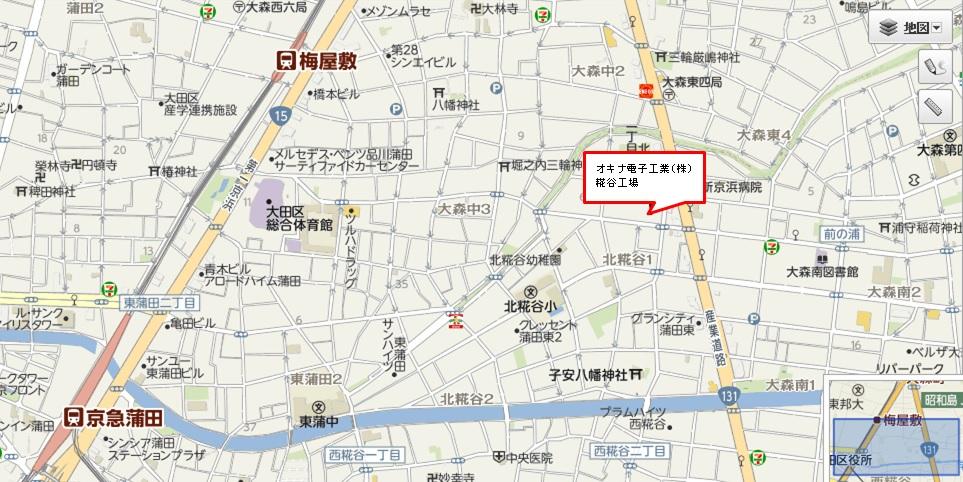 糀谷工場 地図
